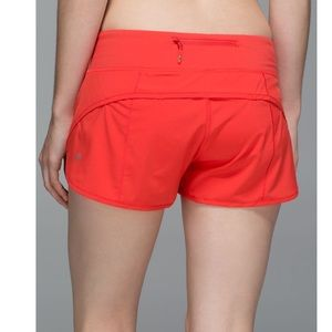 Lululemon | Electric Coral Speed Shorts size 6